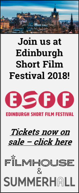 Join us at Edinburgh Short Film Festival 2018!